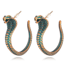 Load image into Gallery viewer, Retro hand-woven rope serpentine earrings