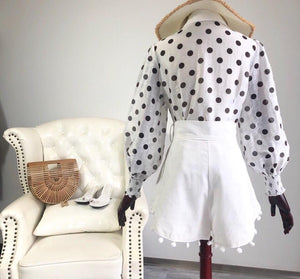 Spotted Lantern Long Sleeve Vintage Top