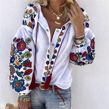 Load image into Gallery viewer, Women's Athleisure Single-Breasted Embroidery Blouse