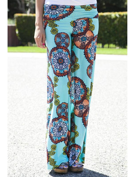 Printed Straight Casual Pants