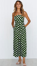 Load image into Gallery viewer, Sleeveless Strapless Straps with Wave Point Jumpsuit
