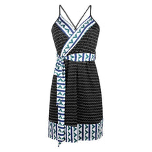 Load image into Gallery viewer, Printed Strap Maternity Midi Dress