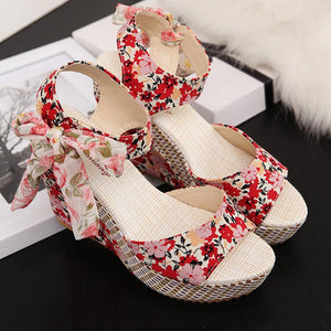 Summer Women Wedges heels Shoes Casual Thick Bottom