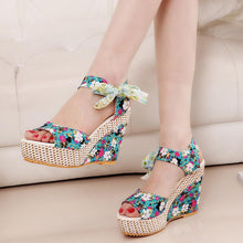 Load image into Gallery viewer, Summer Women Wedges heels Shoes Casual Thick Bottom