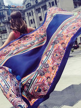 Load image into Gallery viewer, Fringed retro ethnic wind totem cotton and linen sunscreen shawl-2