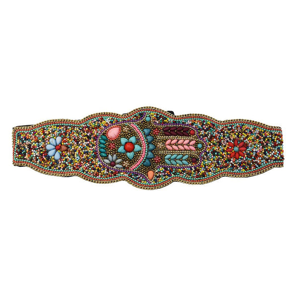 Fashion handmade girdle Bohemian retro national wind elastic adjustable belt ladies elastic waist in autumn and winter