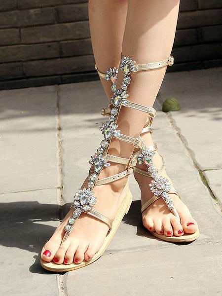 Women Chain Flat Sandals Shoes