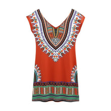 Load image into Gallery viewer, Stylish Bohemian printed long-sleeved dress - 4
