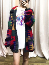 Load image into Gallery viewer, Autumn And Winter Colorful Knit Cardigan Lazy Wind Hooded Coat