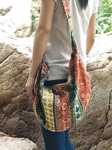 Hippie Floral Print Boho Shoulder Bag