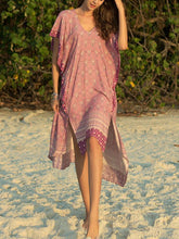 Load image into Gallery viewer, Casual Boho Bat Sleeve V Neck Summer Beach Midi Dress