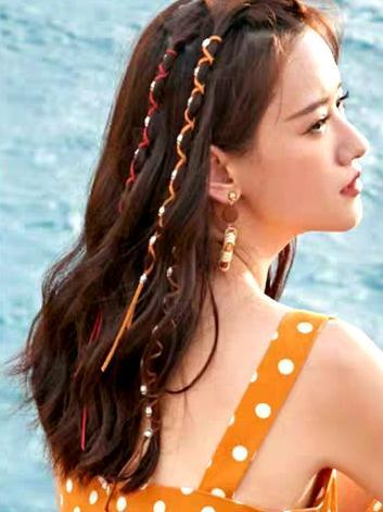 Boho National Wind Taro Rope Hip Hop Hippie Metal Dirty Hair Rope Headwear Holiday Travel Braided Colorful