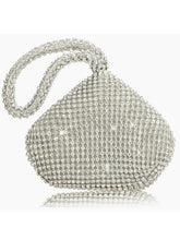 Load image into Gallery viewer, Diamond-Encrusted Dinner Bag Heart-Shaped Clutch