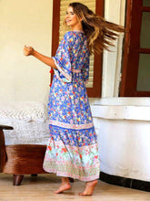Load image into Gallery viewer, Bohemian Beach Holiday Style Pleated Print Dress