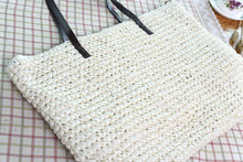 Load image into Gallery viewer, Straw Bag Beach Bag Grass Bag Simple Crochet Bag Rattan