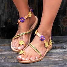 Load image into Gallery viewer, Fashion Sandals Flowers Flat Women's Shoes