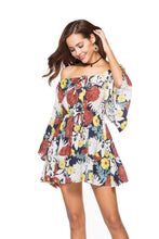 Load image into Gallery viewer, 2018 new arrival Printed Flower Strapless Mini dress