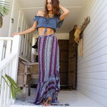 Load image into Gallery viewer, Bohemia High Waist Side Split Maxi Bust Skirt