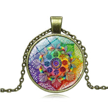 Load image into Gallery viewer, Vintage  Long Chain Mandala Necklace