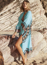 Load image into Gallery viewer, Loose Large Size Long Cardigan Bikini beach sunscreen Cover-up