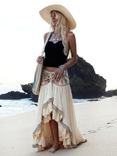 Load image into Gallery viewer, Print High Waist Irregular Beach Skirt