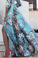 Load image into Gallery viewer, 2018 Print Backless Split Bohemia Beach Maxi Long Dress
