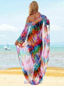 Shivering Chiffon Beach Resort Dress Bikini Cover Up