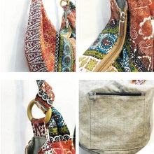 Load image into Gallery viewer, Hippie Floral Print Boho Shoulder Bag