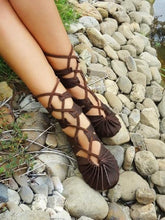 Load image into Gallery viewer, Hippie Bandage Casual Leather Sandals Shoes