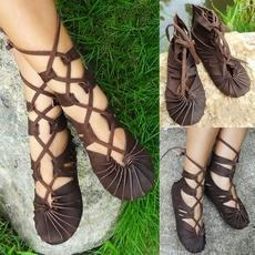 Hippie Bandage Casual Leather Sandals Shoes