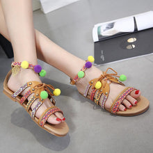 Load image into Gallery viewer, 2018 Summer Beach Tassel Flat Heel Sandals