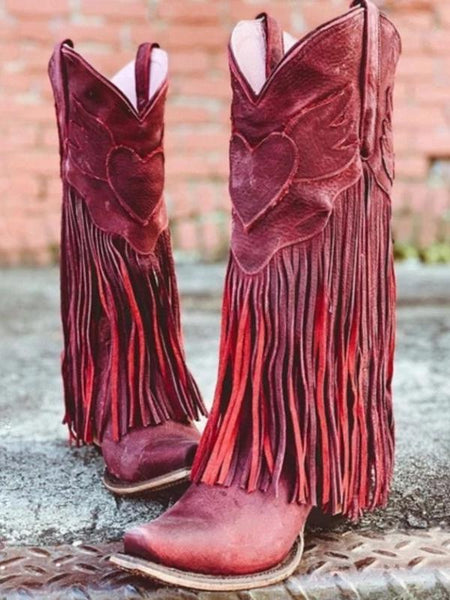 Boho Women Bohemia Style Gladiator Motorcycle Boots Fringed Cowboy Autumn Women Tassel Shoes