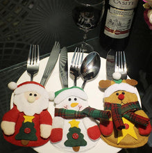 Load image into Gallery viewer, Santa Claus Snowman Knifes Forks Bag Christmas Party Decoration