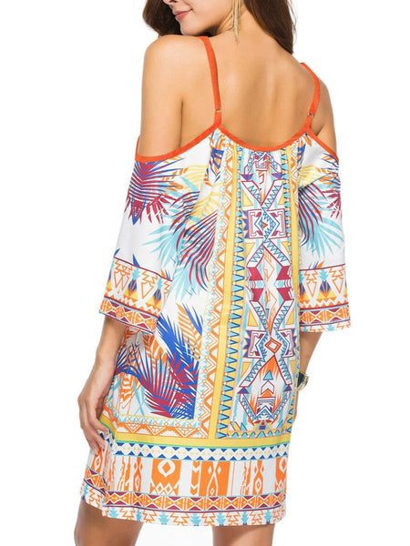Milk Silk Beach Resort Sling Printing Mini Dress