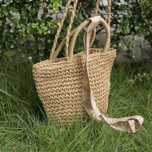 Women Casual Straw Vintage Handbag
