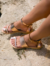 Load image into Gallery viewer, Flat bottom toe buckle with casual sandals