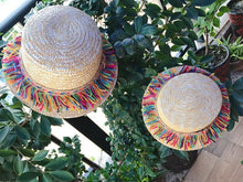 Load image into Gallery viewer, Summer Hand-Woven Bohemian Straw Parent-Child Sun Hat