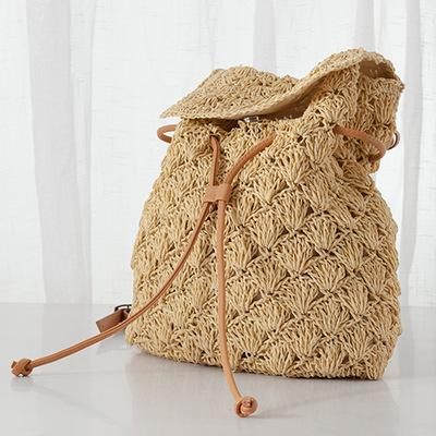 Women Simple Woven Beach Bag