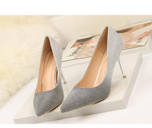 Load image into Gallery viewer, Autumn Gradient Color Pointed Stiletto Super High Heel Shoes