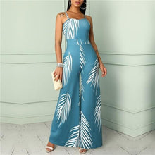 Load image into Gallery viewer, Spaghetti-Strap Floral Jumpsuit Sexy High Waist Jumpsuit
