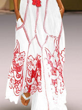 Load image into Gallery viewer, Women s Chinese Sleeveless Print Spring Summer Dress