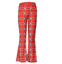 Load image into Gallery viewer, Autumn And Winter Lattice Leisure Micro Bell-bottom Trousers