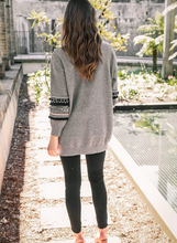 Load image into Gallery viewer, Long Sleeve Open Front Knit Cardigan with Pockets Bohemian Knitted Sweater Outwear