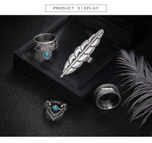 Load image into Gallery viewer, 4 Pcs/Set Fashion Antique Bohemian Midi Ring Vintage Steampunk Set Rings