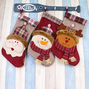 Cute Santa Claus Socks Bag Christmas Stocks Festival Pendant Hanging Decoration For Home Party