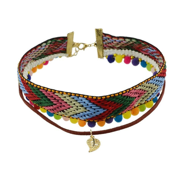 Ethnic colorful necklace Bohemia Wild style