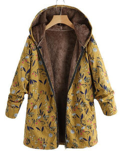Autumn And Winter Women Hooded Thick  Long Coat