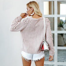 Load image into Gallery viewer, Winter Hairball Knitted Cardigan O Neck Long Sleeve Jumper Sweaters