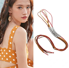 Load image into Gallery viewer, Boho National Wind Taro Rope Hip Hop Hippie Metal Dirty Hair Rope Headwear Holiday Travel Braided Colorful