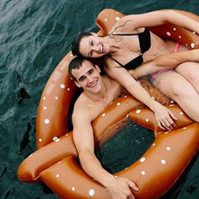Load image into Gallery viewer, Inflatable bagel floating row adult horse unicorn swim ring beach style beach fashion